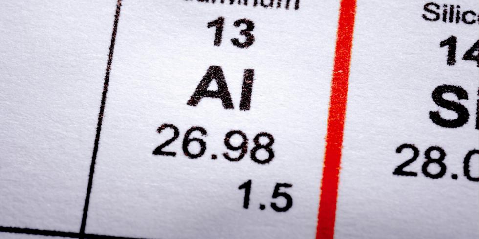 Aluminio, símbolo químico.